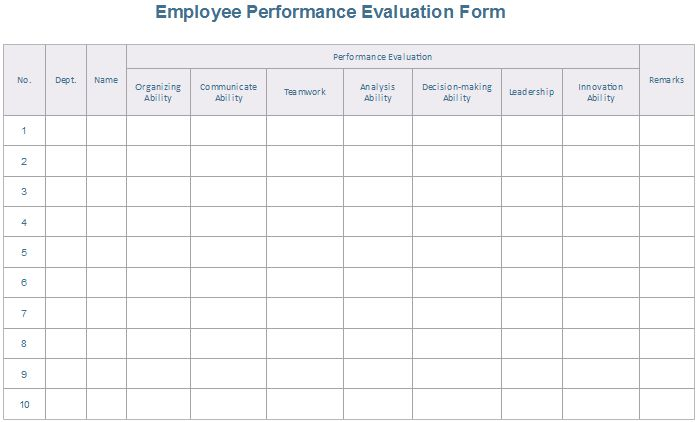 8 Downloadable Evaluation Form Examples