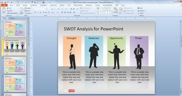 Free SWOT Analysis PowerPoint Template - Free PowerPoint Templates ...