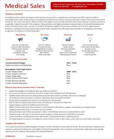 Sample Entry-Level Medical Resume - 6+ Examples in Word, PDF