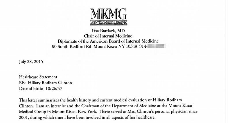 Hillary Clinton Medical Records 'Leaked'