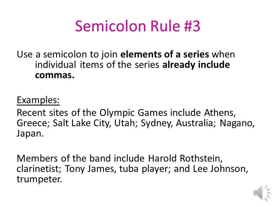 Semicolons Belinda Jones TECH February ppt download