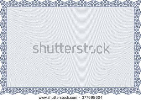 Blue Classic Certificate Template Great Quality Stock Vector ...