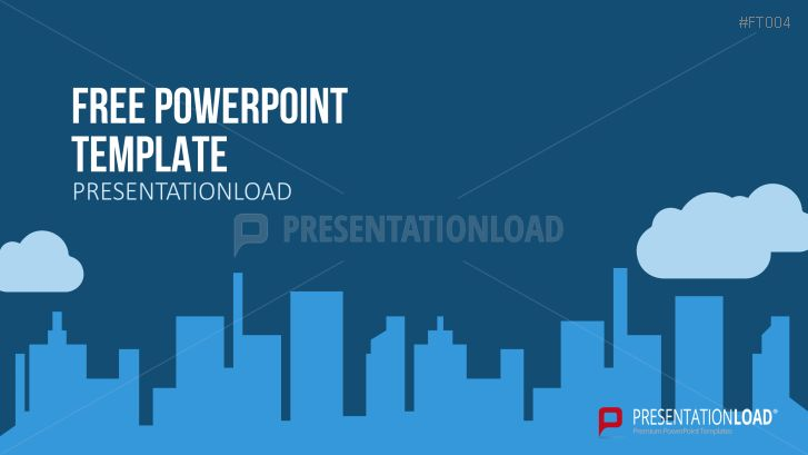 PresentationLoad | Free PowerPoint Template City Skyline