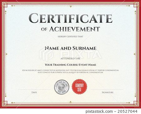 Sample Certificate Of Achievement. Large-Blank-Certificate-Of ...