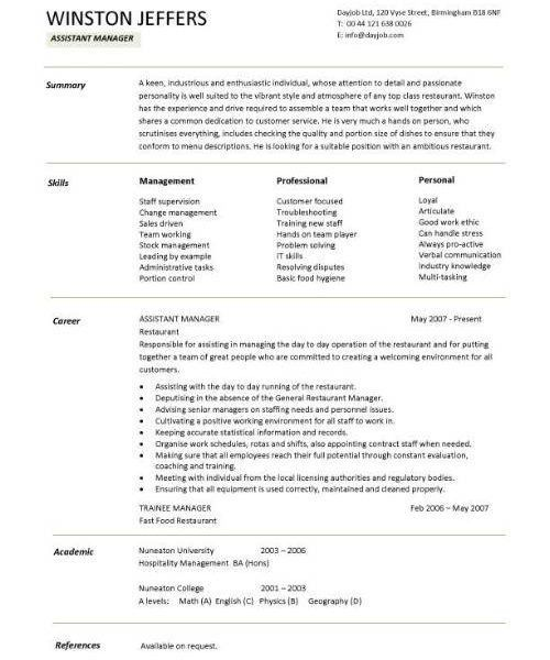 Lofty Idea Restaurant Manager Resume Sample 13 Restaurant ...
