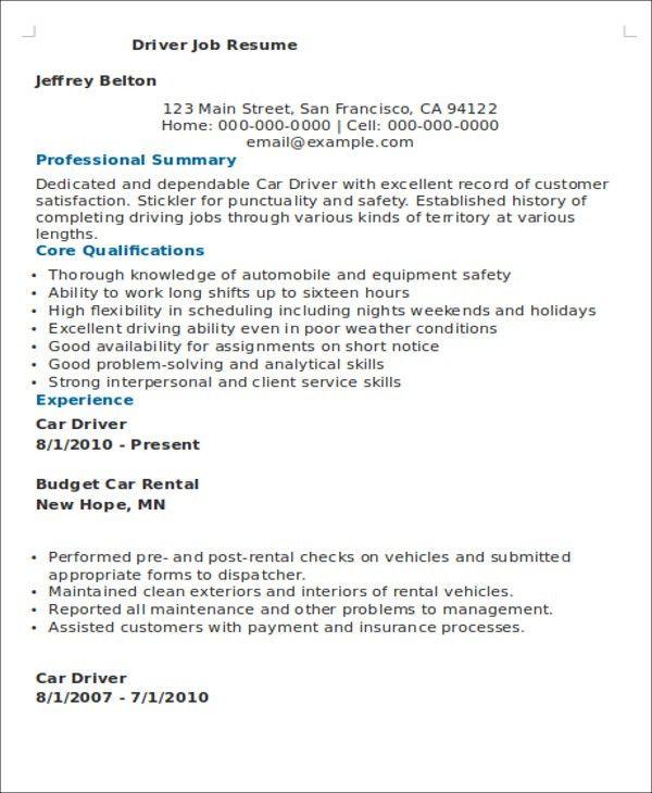 Job Resume Examples -9+ Free Word, PDF Format Download | Free ...