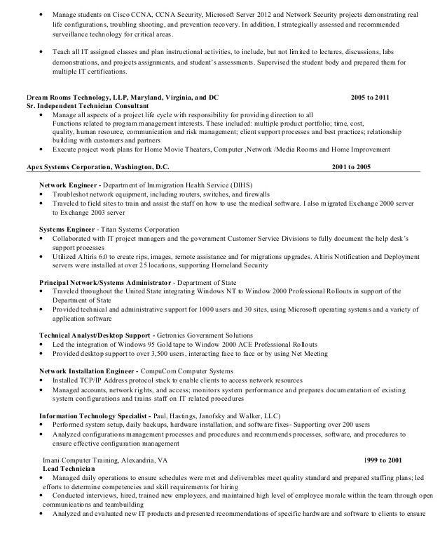 Resume Update [Template.billybullock.us ]