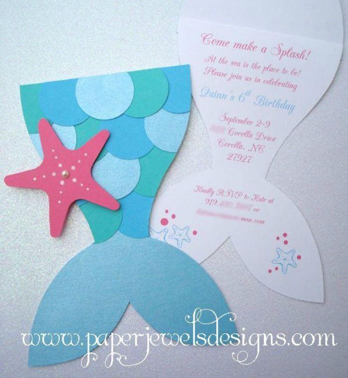 Best 25+ Mermaid party invitations ideas on Pinterest | Little ...
