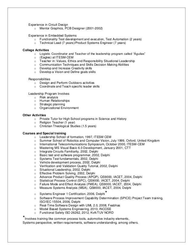 Download Control Systems Engineer Sample Resume ...
