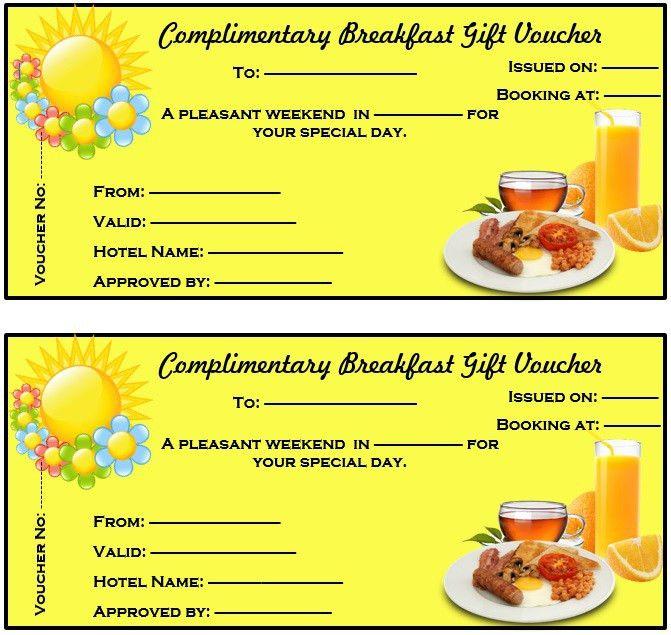 8 Free Sample Breakfast Voucher Templates – Printable Samples