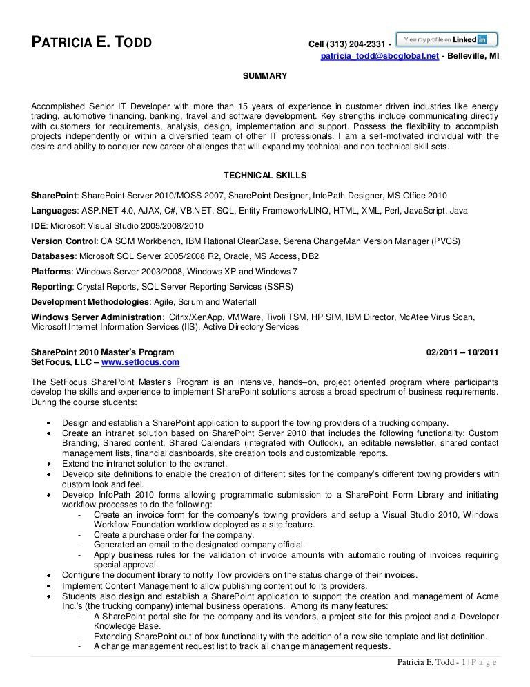 Download Clearcase Administration Sample Resume ...