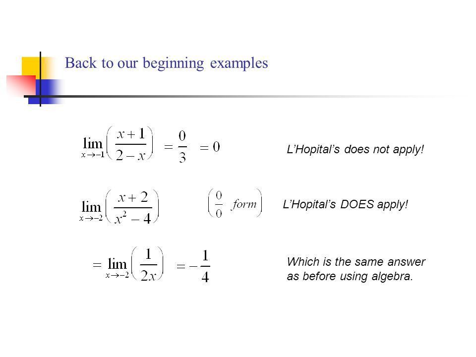 Indeterminate Forms and L'Hopital's Rule Chapter 4.4 April 12, ppt ...