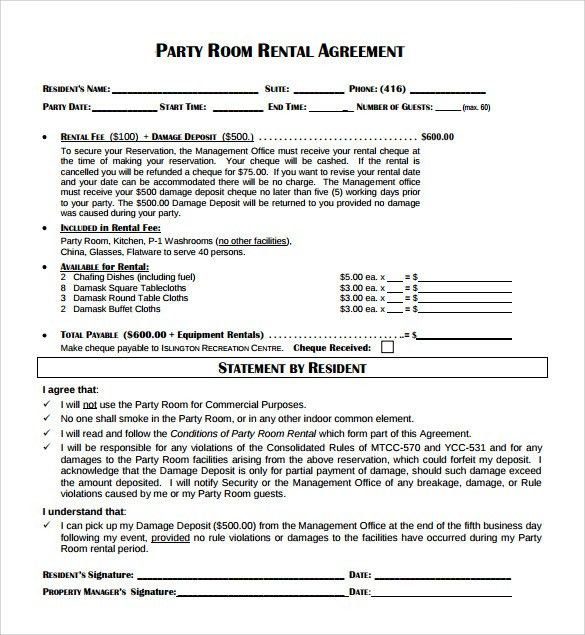 Sample Room Rental Agreement – 8+ Free Samples, Examples & Formats