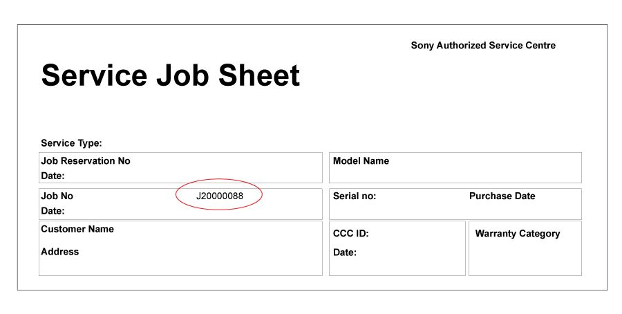sample job sheet – Free Online Form Templates