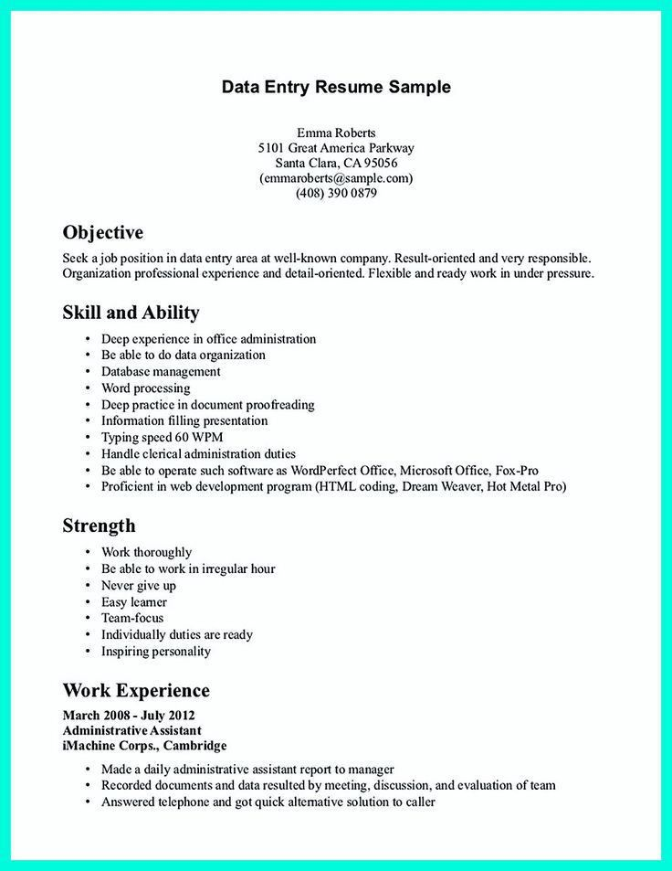 2695 best Resume Sample Template And Format images on Pinterest ...