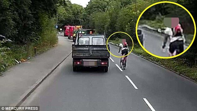 London cyclist filmed in furious road-rage row with a truck driver ...