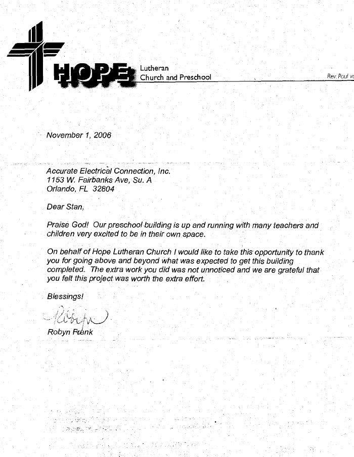 Example Of A Testimonial Letter From Church - Resume Acierta.us