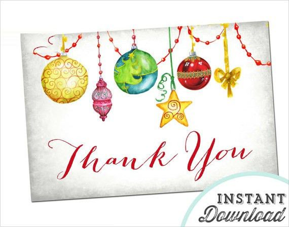 Christmas Thank You Cards - 19+ Download Documents in PSD , Vector ...