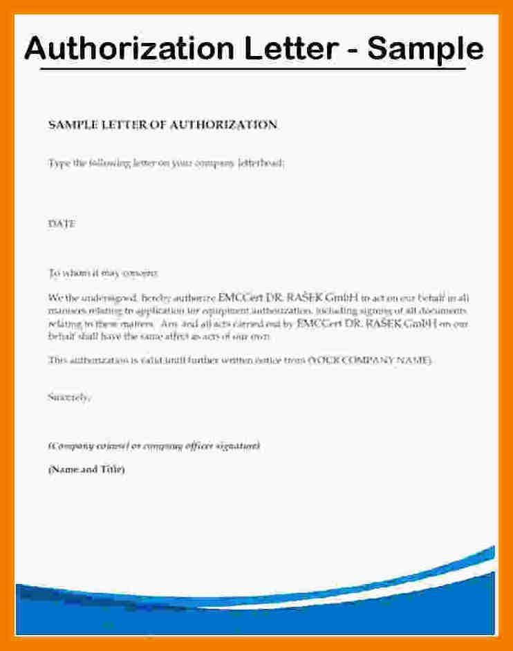 3+ authorization letter sample to act on behalf | mailroom clerk