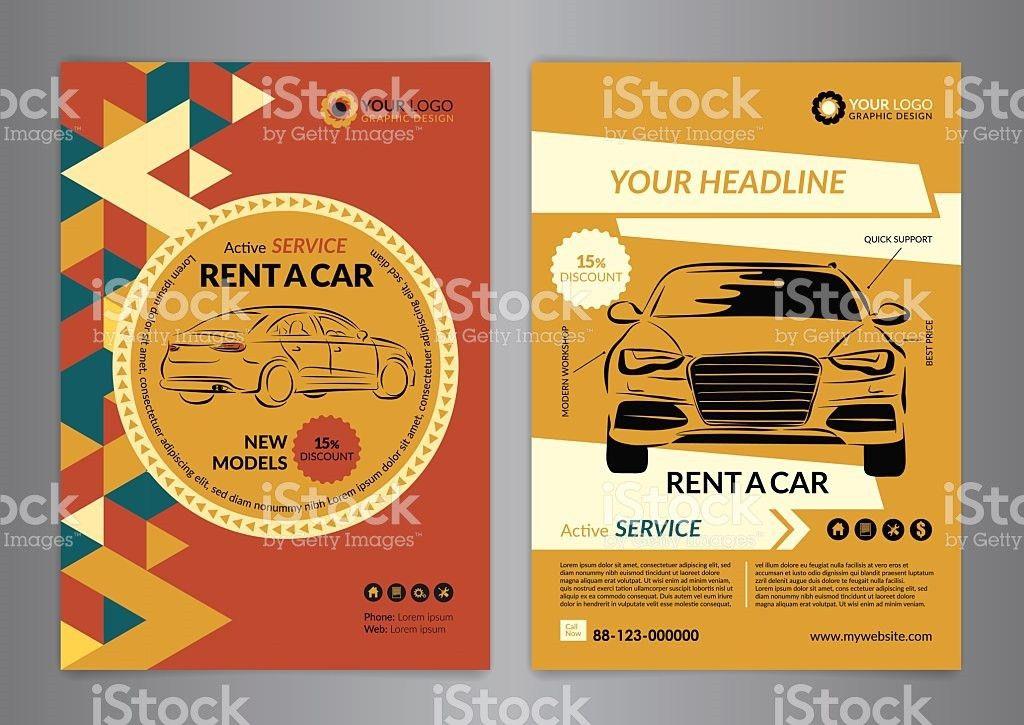 Rent A Car Business Flyer Template Auto Service Brochure Templates ...
