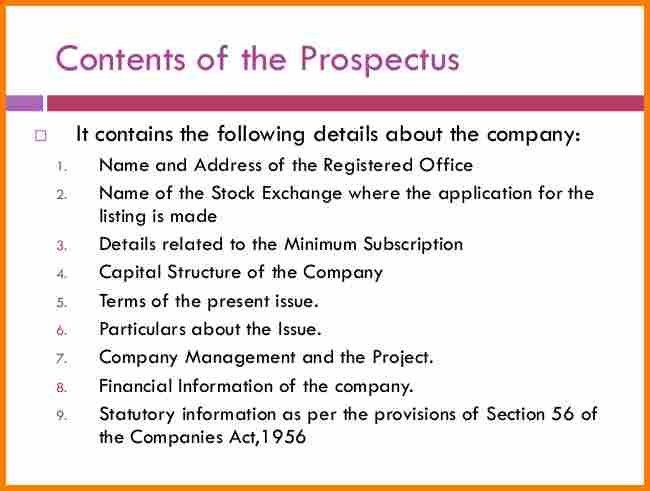 Business Prospectus Template. mining business plan template sample ...