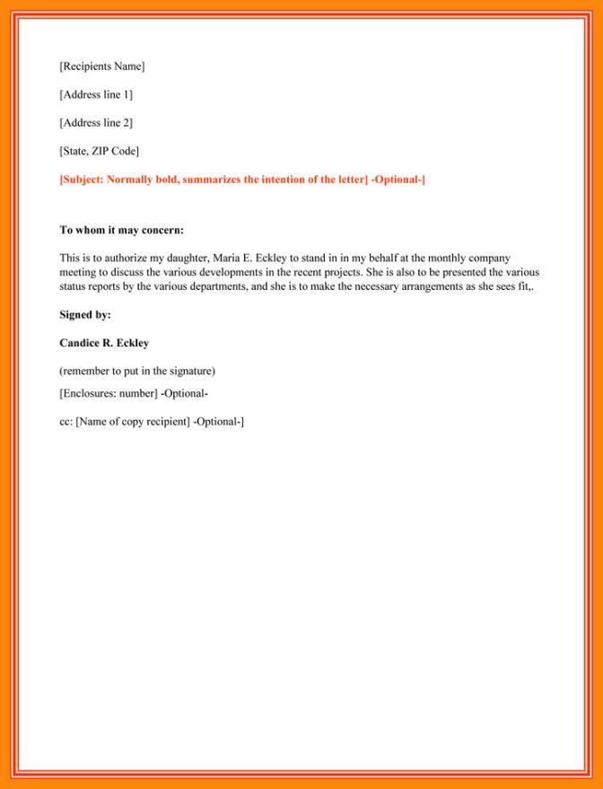 5+ authorization letter behalf | nurse resumed