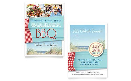 Free Sample Invitation Templates - Word & Publisher