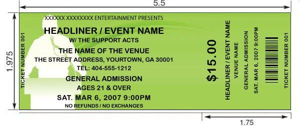 14 Event Ticket Templates - Excel PDF Formats
