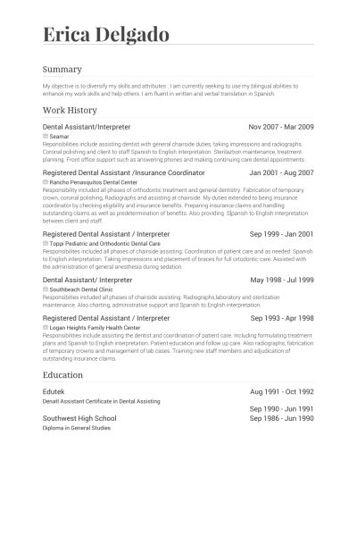 interpreter resume objective translator interpreter resume ...