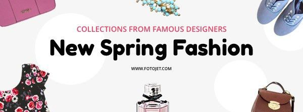 Spring Fashion Facebook Cover Photo Template Template | FotoJet