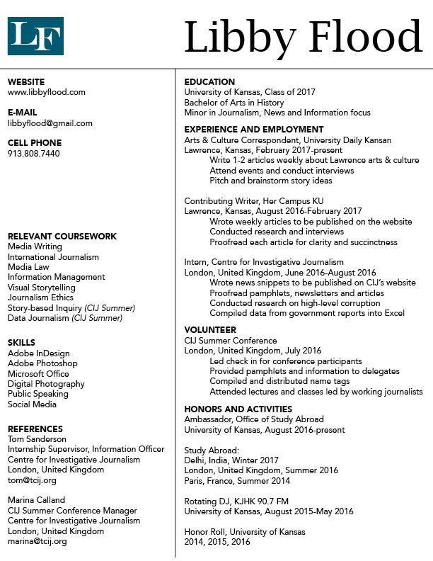 Resume – Libby Flood