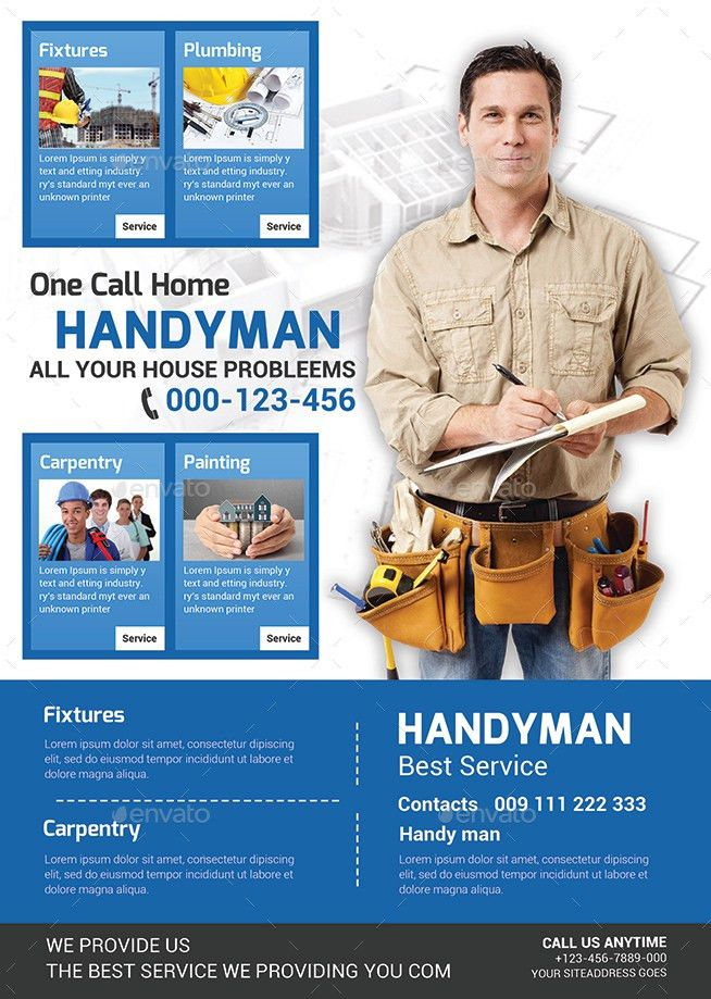 Plumber Service Flyer Templates by afjamaal | GraphicRiver