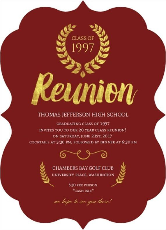 6+ Reunion Invitation Templates - Free Editable PSD, AI, Vector ...