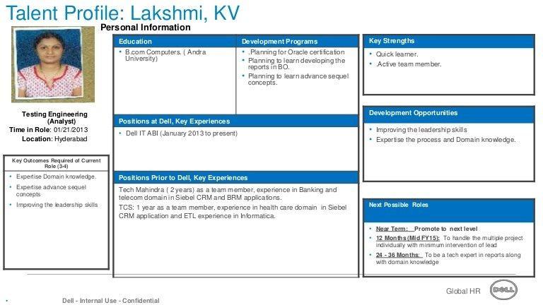 Talent profile template