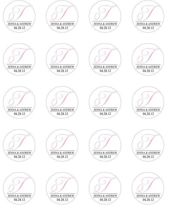 Wedding Favor 1.5 inch Round Favor Sticker Template DIY Print