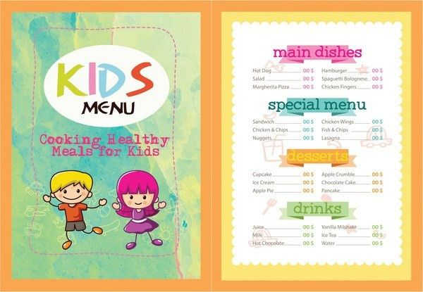 Kids Menu Template - 25+ Free PSD, AI, EPS, Vector Format Download