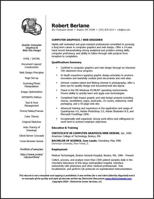 Resume writer qualifications