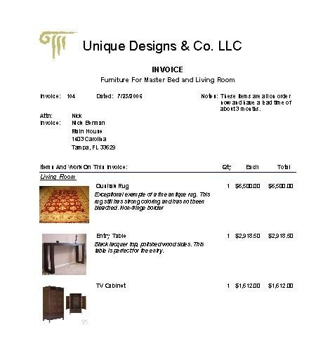 Design Invoice Template | Free Business Template