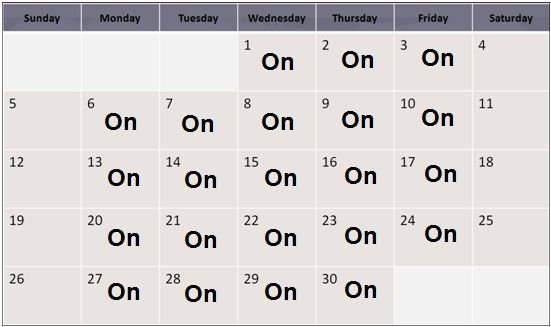 Creating and maintaining schedule templates