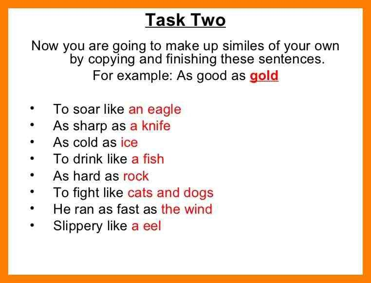 9+ example of simile sentence | curriculum word