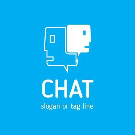 Chat Logo Template Design Vector
