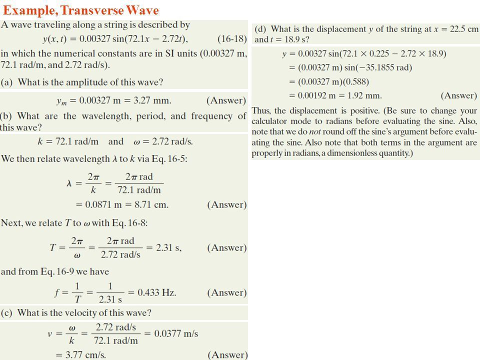 The Equation Of A Transverse Wave On String Is 2 0 Mm - Jennarocca