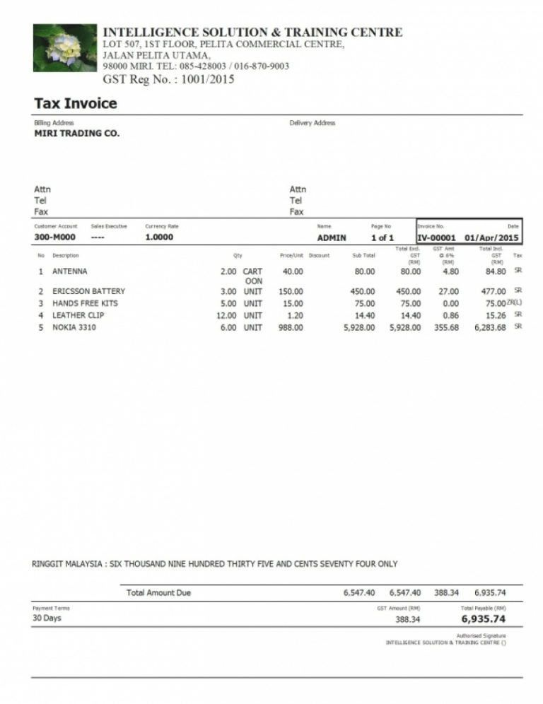 Download Tax Invoice Format Excel Malaysia | rabitah.net