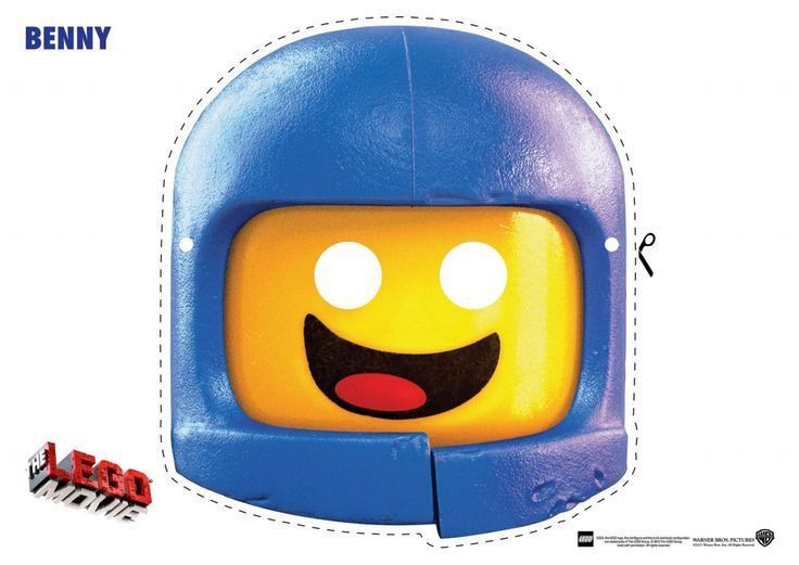 The Lego Movie Coloring Pages LEGO Face Mask | Lego faces, Lego ...