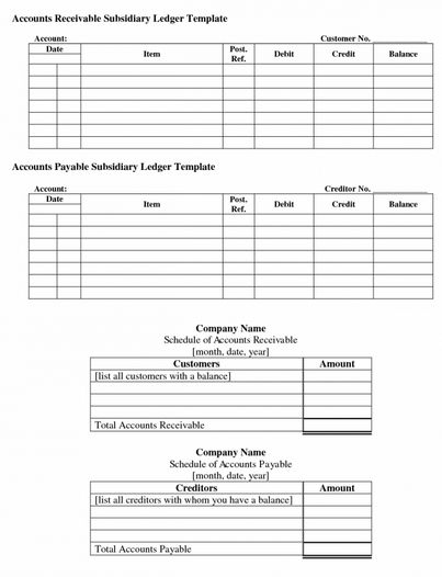 Party Ledger Format Excel Excel Accounting Templates General ...