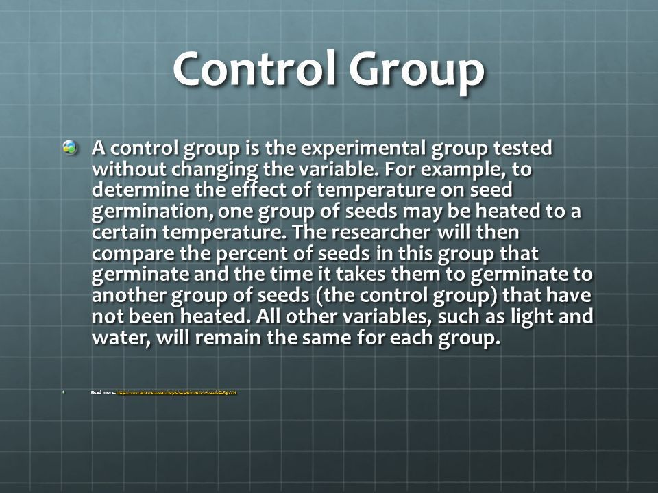 Control Group vs. Controlled Variable - ppt video online download