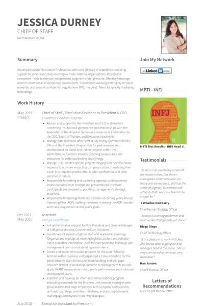 Executive Resume samples - VisualCV resume samples database