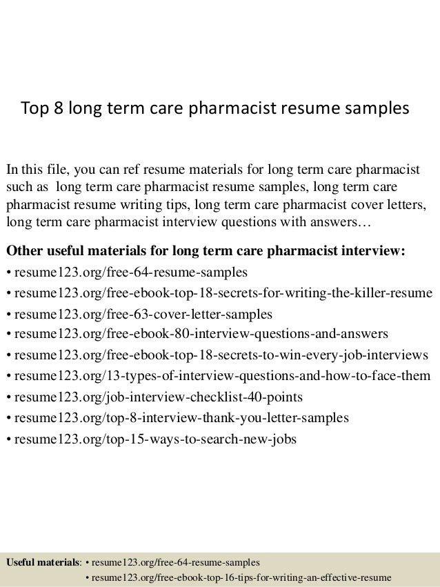 best pharmacist resume sample ideas httpwwwjobresumewebsite sample ...