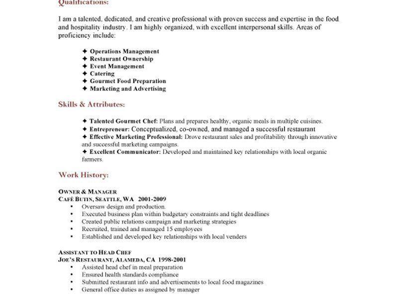 Homey Inspiration Catering Resume 13 Catering Server Resume Job ...