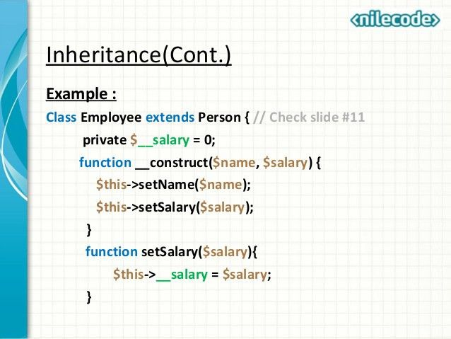 Class 7 - PHP Object Oriented Programming